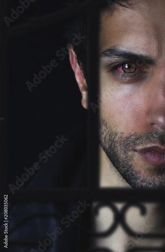 Valokuva Portrait d' un beau vampire  Illustration pour un roman fantastique