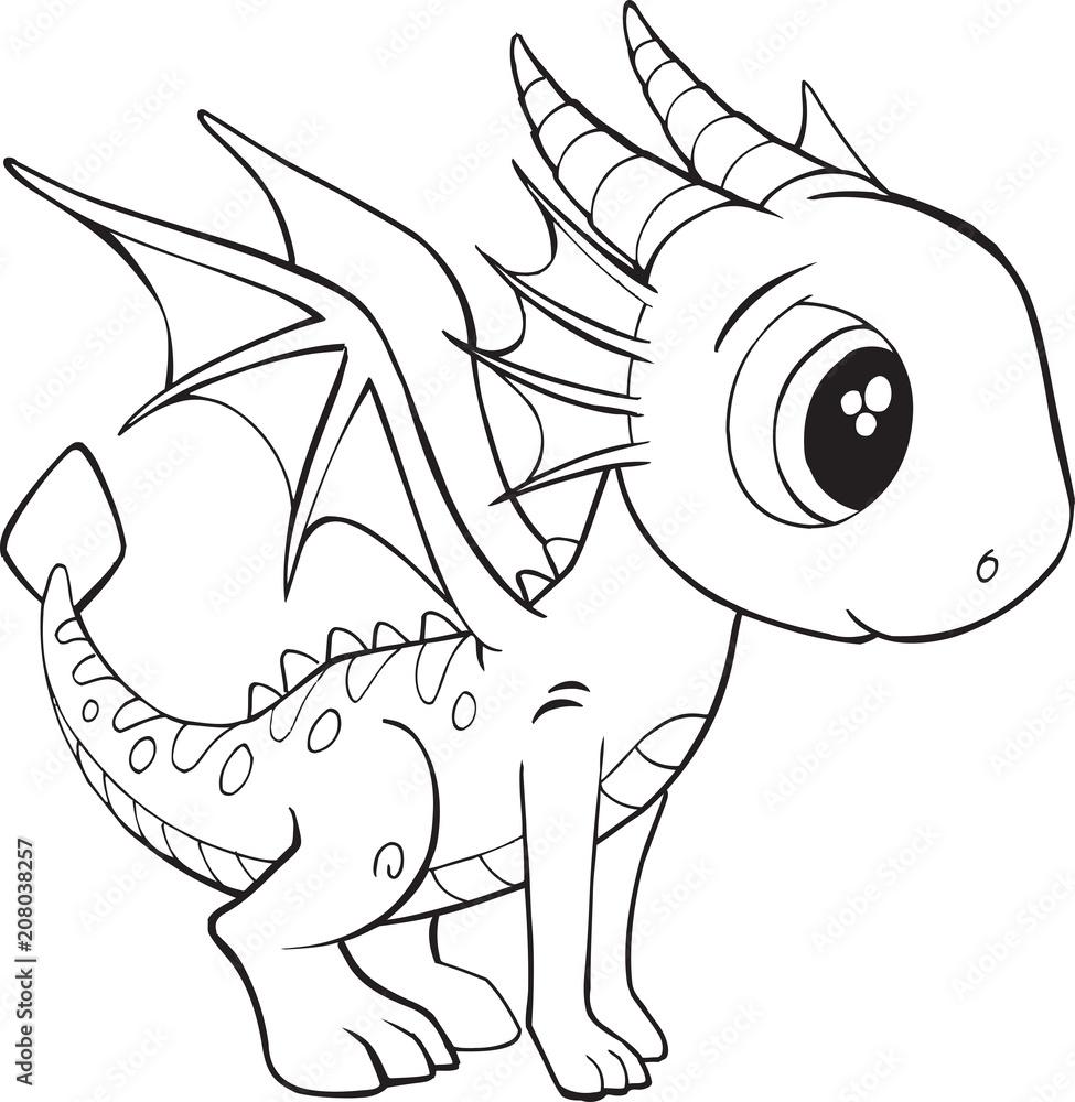 poster cute dragon vector illustration art  nikkelartde
