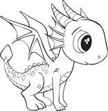 Fototapeta Dinusie - Cute Dragon Vector Illustration Art