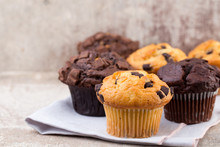 Homemade Muffins With Chocolat...