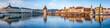 Luzern Stadtpanorama mit Altstadt und Wasserturm, Schweiz
