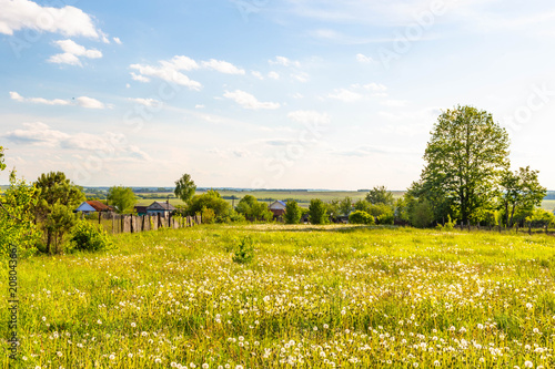 Tuinposter Honing rural landscape in Chuvashia