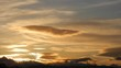 Horizon of Beskid Small and sky before sunrise - December 2012