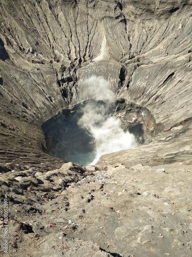 Foto op Plexiglas Indonesië Crater of Bromo volcano in Bromo Tengger Semeru National Park, East Java, Indonesia