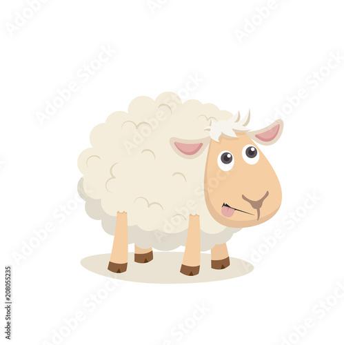 Fototapeta premium Cute owiec szczęśliwy Vertor