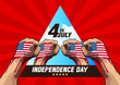 4th july independence day, vector illustration, you can place relevant content on the area.