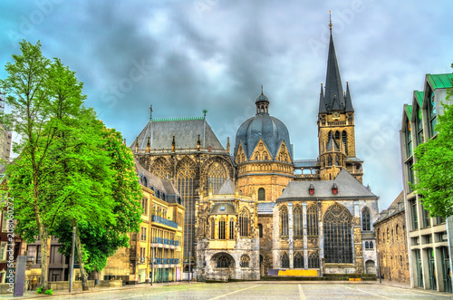 Photo Aachen Cathedral, a UNESCO world heritage site in Germany