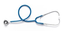 Blue Stethoscope Isolated On W...