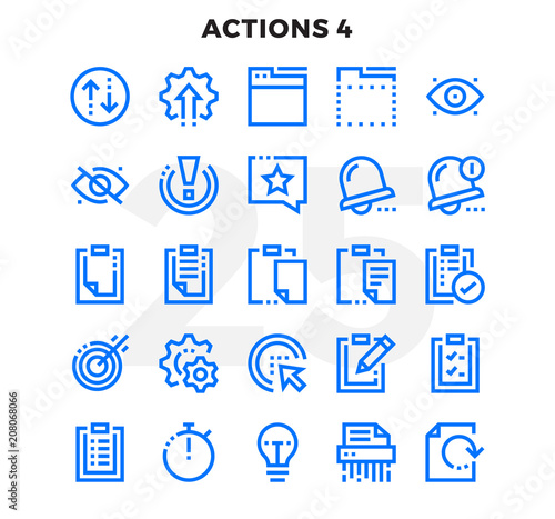 Photo Dashed Outline Icons Pack for UI