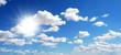 sun glare with cloudy sky