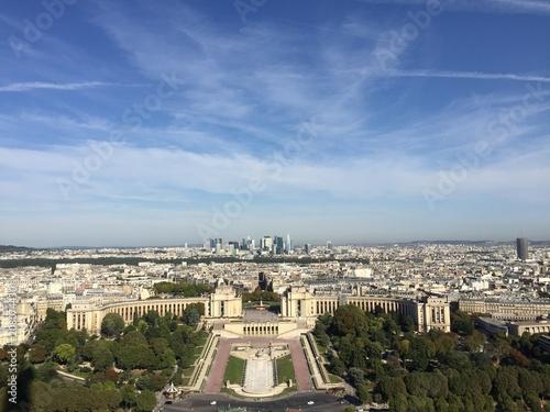 Plakat Widok na miasto Paryż z wieży Eiffla