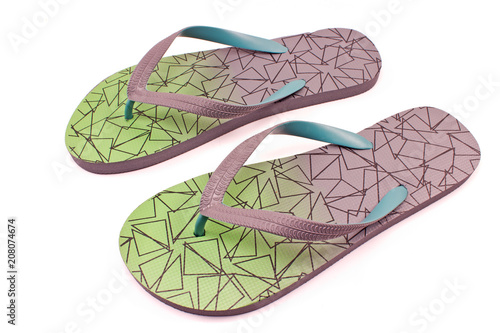 Flip flops sandals isolated on white