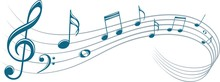 Symbol With Music Notes.