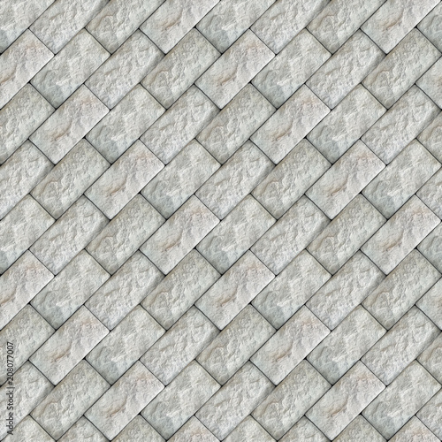 Foto op Plexiglas Stenen Seamless photo texture of pavement tile from natural stone