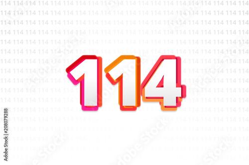Poster  Number 114 on Number 114 background