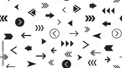 Pinturas sobre lienzo  Seamless Modern Monochrome Pattern With Arrows