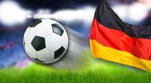 Fussball Deutschland Flagge Fa...