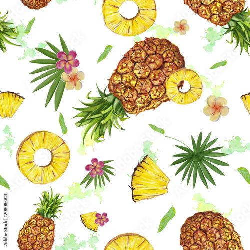 akwarela-bezszwowe-wzor-z-ananasem