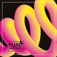 Fluid Abstract Spiral Neon Col...