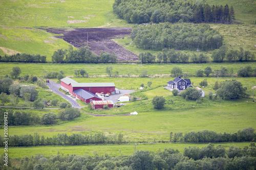 Staande foto Khaki Farmland