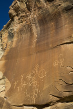 Ancestral Puebloan Petroglyphs, Upper Sand Island, Bears Ears National Monument, Utah