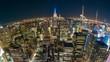 4k timelapse video of New York City at night
