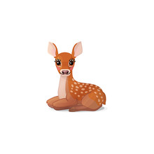 Vector Spotty Fawn, Baby Red D...