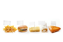 Fast Food From Different Countries Isolated