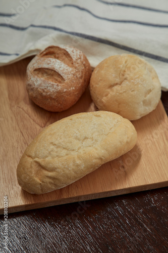 Staande foto Brood fresh bread and wheat
