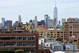 Fototapeta Nowy Jork - Kolorowa panorama Manhattanu w Nowym Jorku