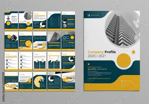 Business Proposal Layout With Yellow And Gray Accents Buy This