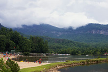 Mountains In The Clouds. Lake Lure. Chimney Rock, NC, USA