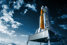 Space Launch System On Launchp...