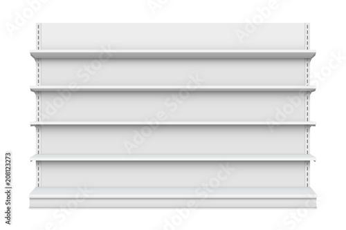 Creative vector illustration of empty store shelves isolated on background Fototapeta