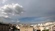 Time-lapse au dessus de la ville de Paris avec prises de vues larges de type fisheye.