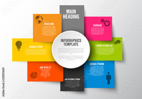 colorful stacked boxes infographic buy this stock template and