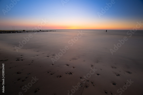 Long exposure on the beach. Poster