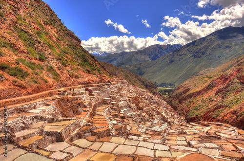 Staande foto India Maras salt mine, Cuzco, Peru