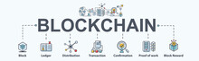 Blockchain Banner Web Icon Set...