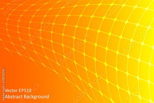 Staande foto Abstractie Art Orange and yellow abstract vector background