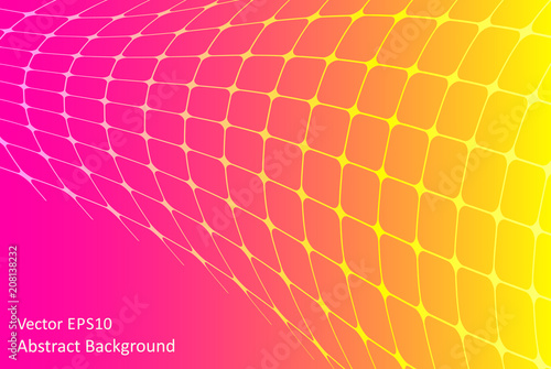 Staande foto Abstractie Art Pink and yellow abstract vector background