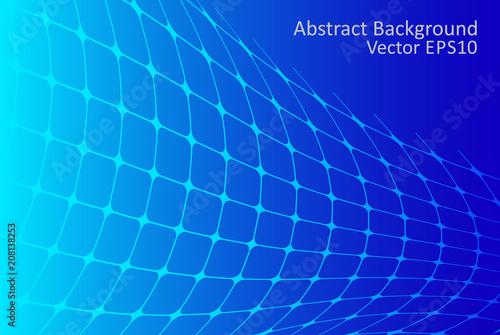 Staande foto Abstractie Art Blue gradient abstract vector background
