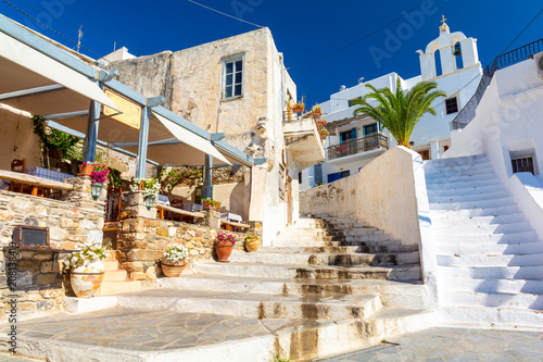 Photo  typical greek architecture on Naxos island, Cyclades, Greece