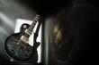 Reflektion an einer Gitarre