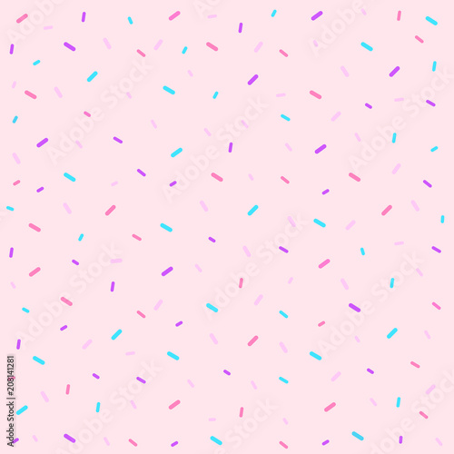 Fototapeten Künstlich Memphis seamless pattern. Sprinkles background.Vector Illustration.