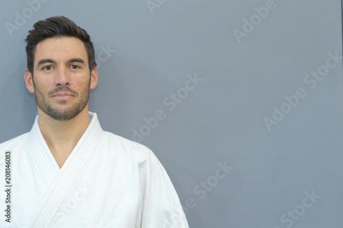 Fotografie, Obraz  male athlete posing in kimono