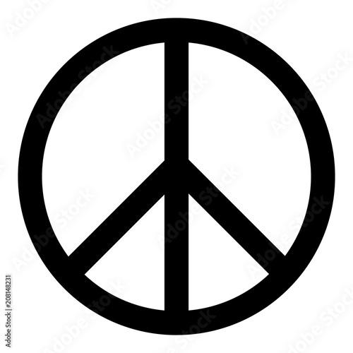 Peace symbol icon Poster