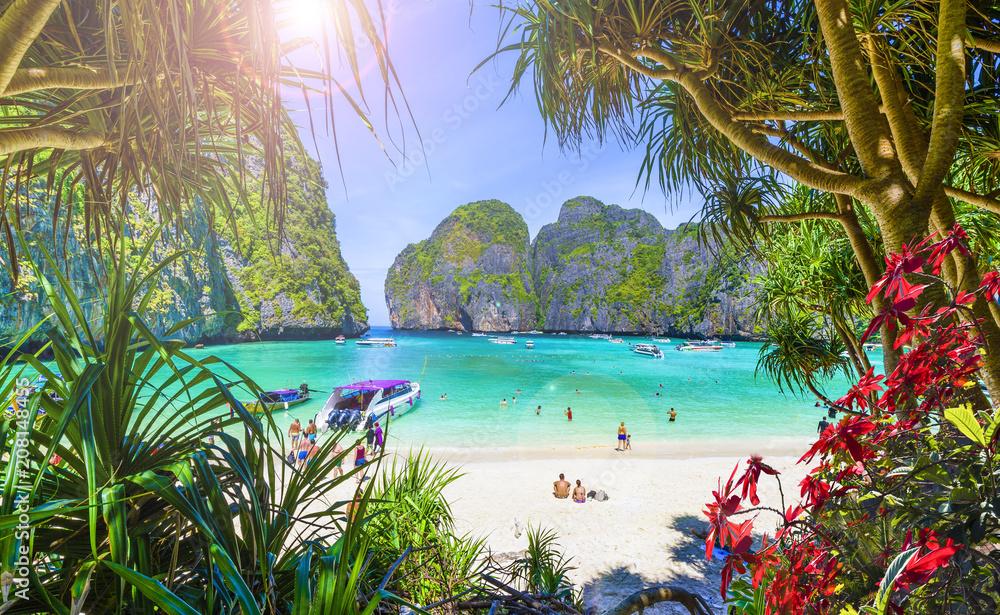 Fototapety, obrazy: Amazing Maya beach on Phi Phi Islands, Thailand
