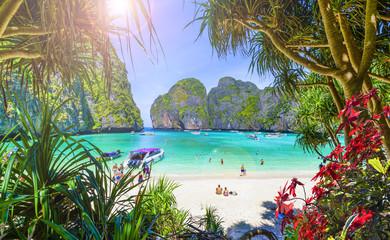 Amazing Maya beach on Phi Phi Islands, Thailand