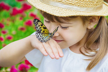Child With A Butterfly. Idea L...